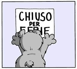Chiudo Per Ferie A Presto Paloma